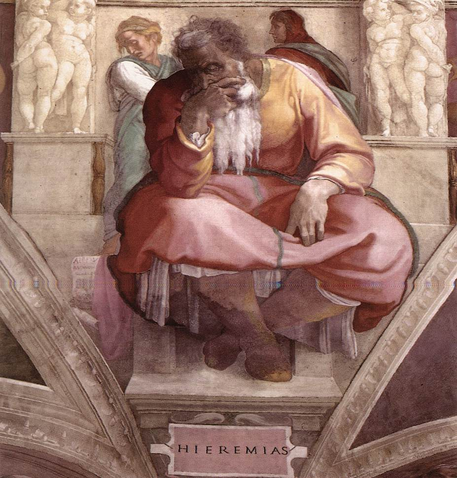 Jeremiah 1511 | Michaelangelo | Oil Painting