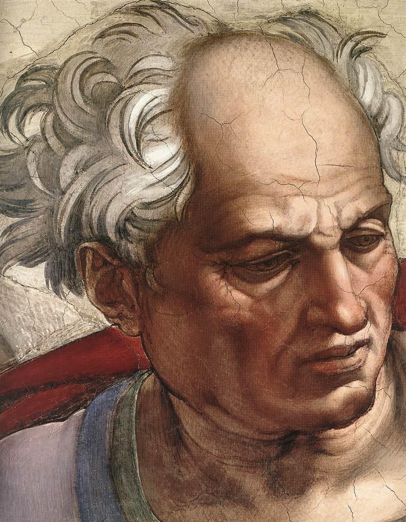 Joel (Detail) 1 1509 | Michaelangelo | Oil Painting