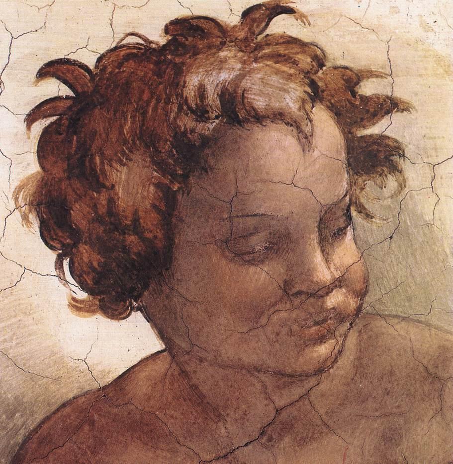Joel (Detail) 2 1509   Michaelangelo   Oil Painting