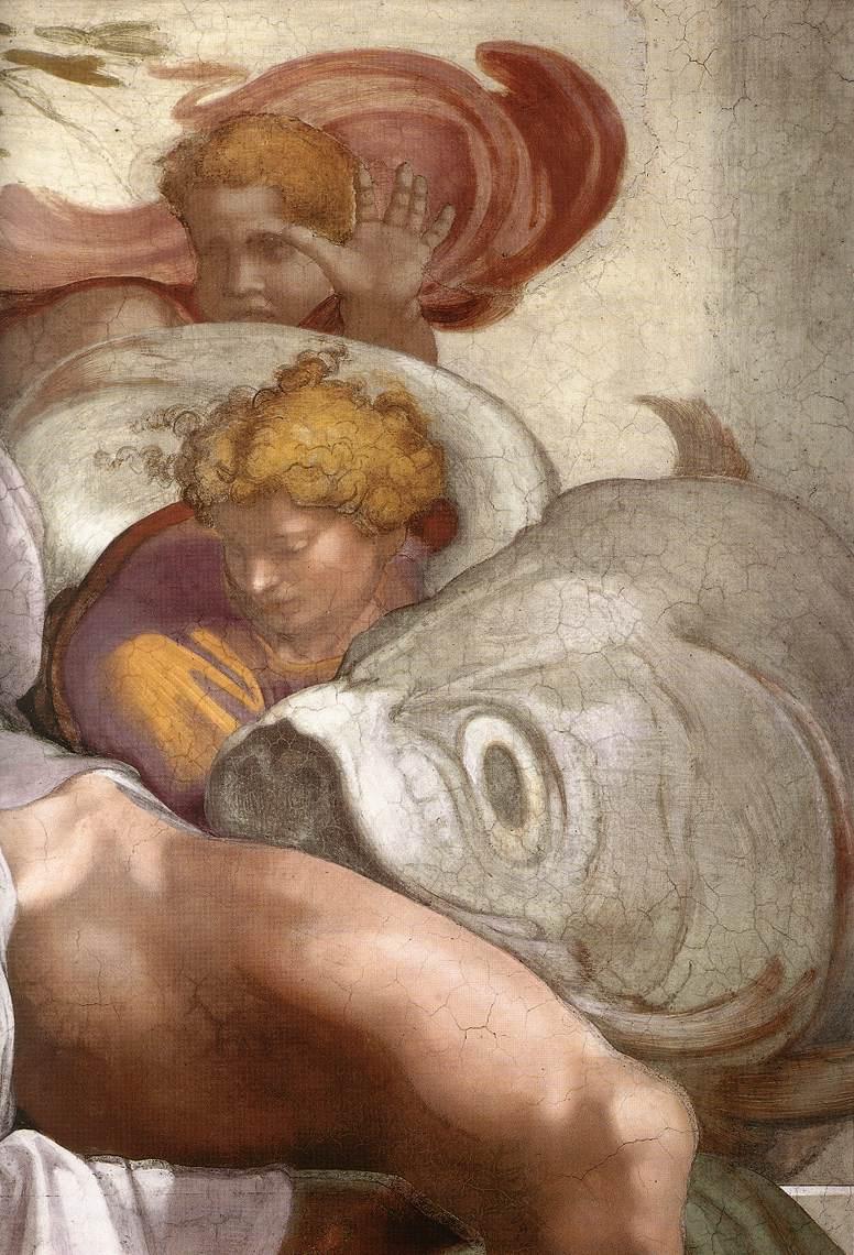Jonah (Detail) 3 1511 | Michaelangelo | Oil Painting