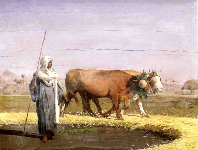 Treading Wheat in Egypt 1866 1867 | Jean Leon Gerome | Oil Painting