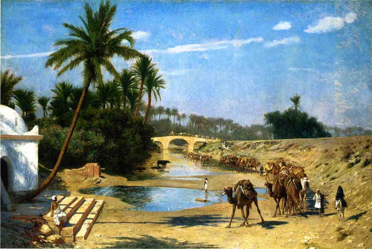 Landscape   Caravan | Jean Leon Gerome | Oil Painting