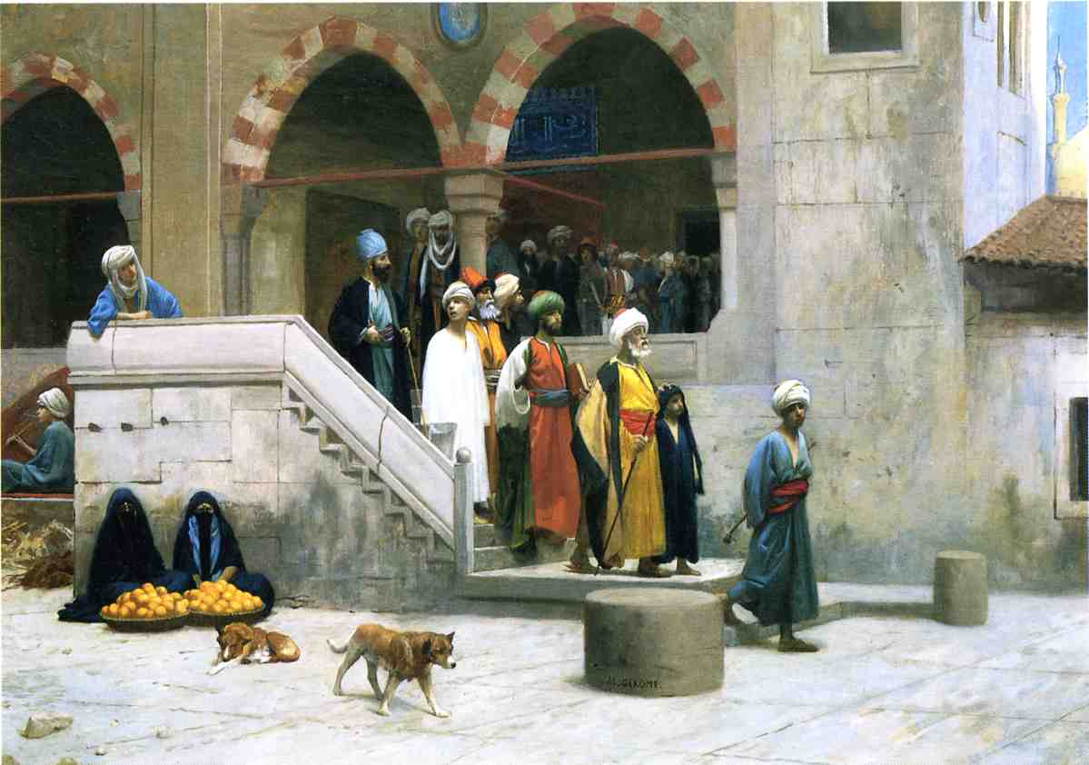 Leaving the Mosque 1903 | Jean Leon Gerome | Oil Painting