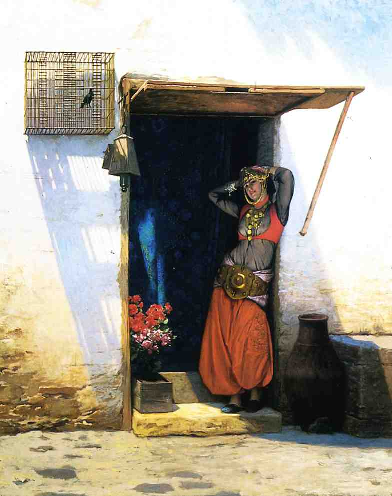 Woman from Cairo at Her Door 1887 | Jean Leon Gerome | Oil Painting