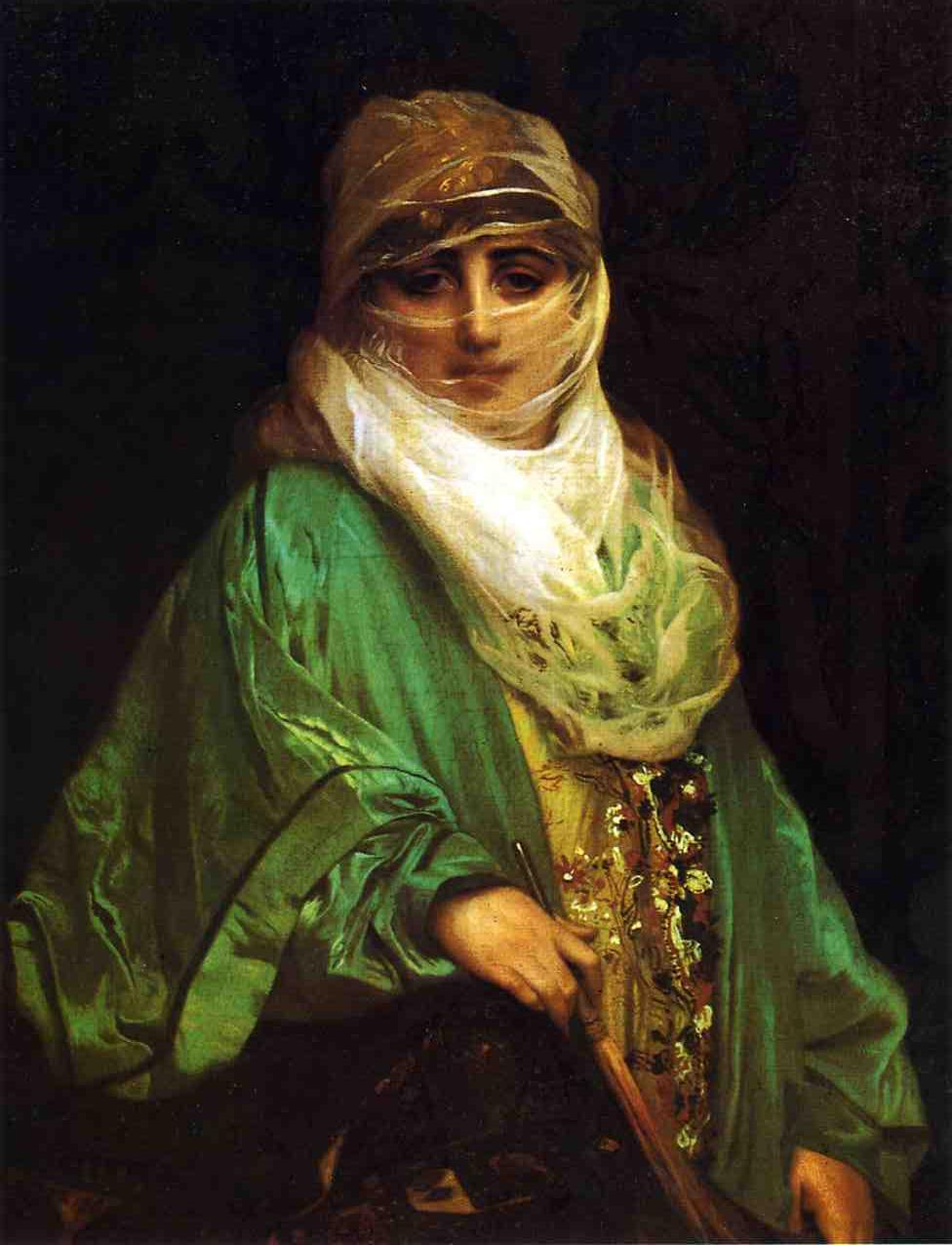 Woman from Constantinople 1876 | Jean Leon Gerome | Oil Painting