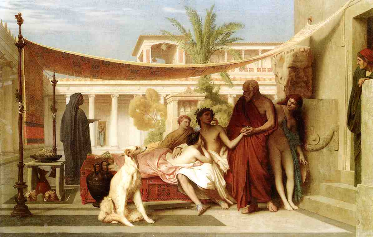 Socrates Seeking Alcibiades in the House of Aspasia 1861 | Jean Leon Gerome | Oil Painting