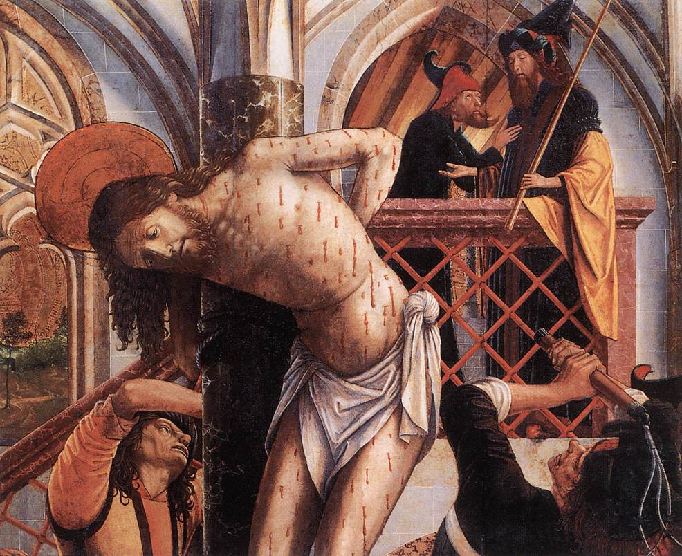 Flagellation 1495-98 | Michael Pacher | Oil Painting