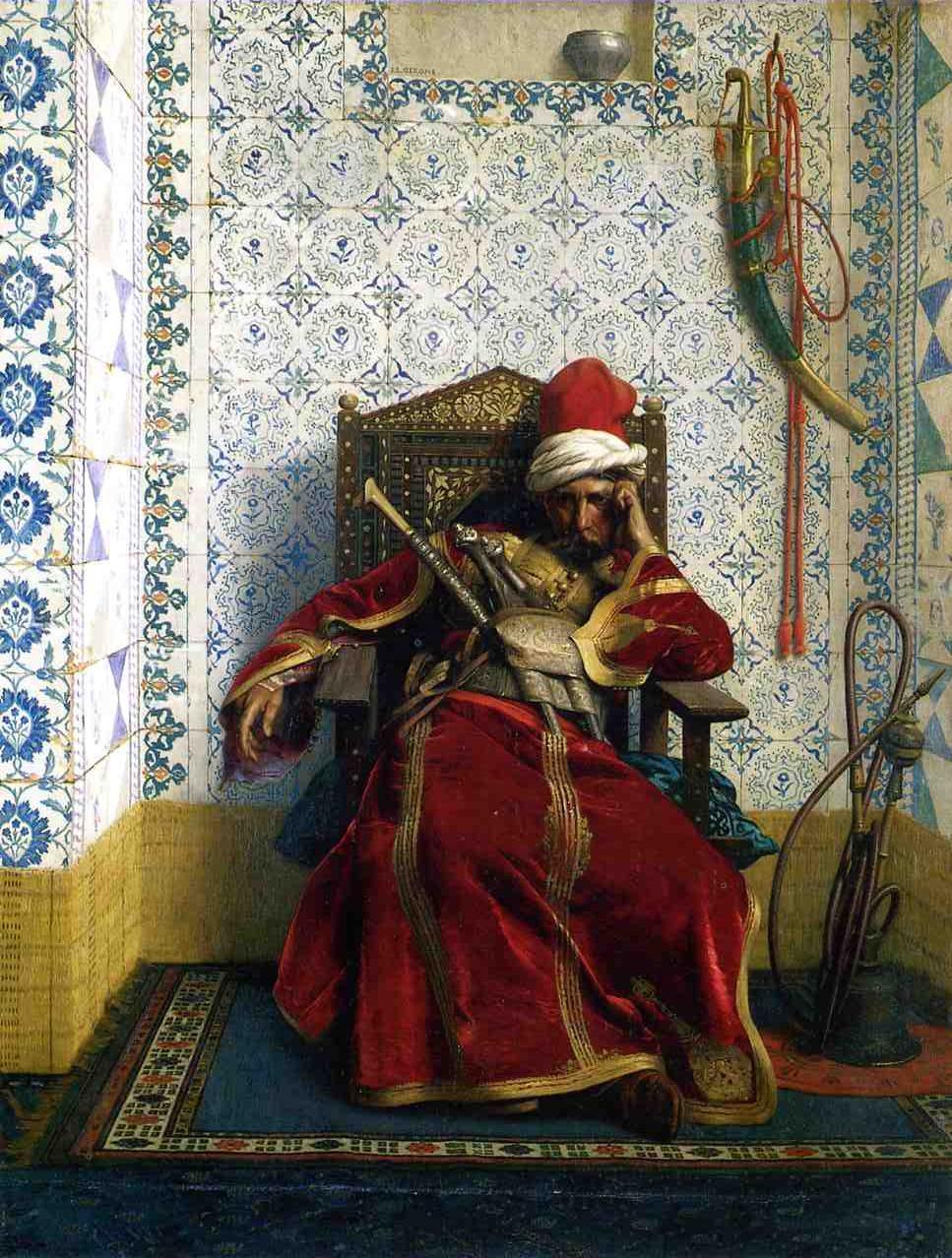 Markos Botsaris 1874 | Jean Leon Gerome | Oil Painting