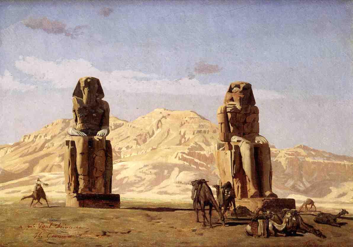 Memnon and Sesostris study 1856 | Jean Leon Gerome | Oil Painting