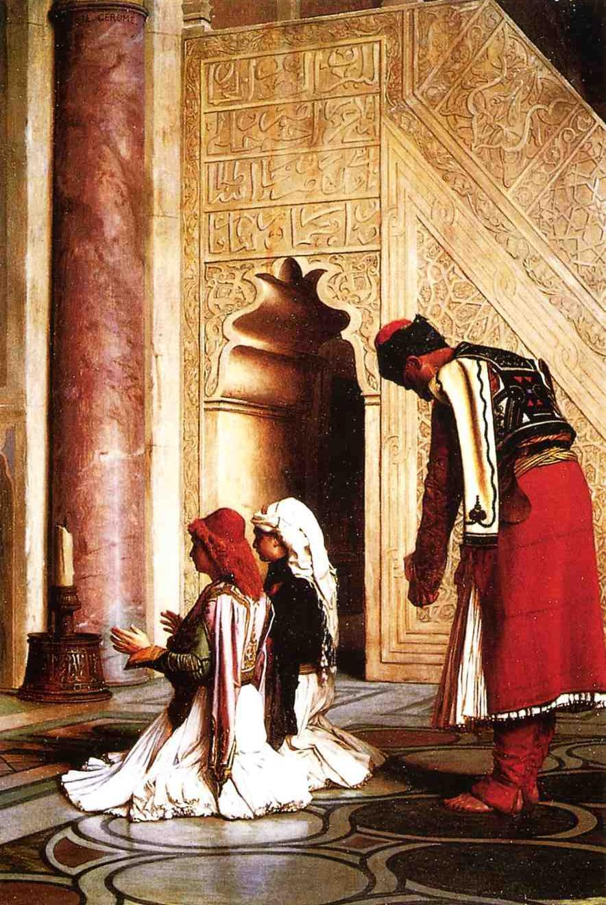 Young Greeks in a Mosque 1865 | Jean Leon Gerome | Oil Painting