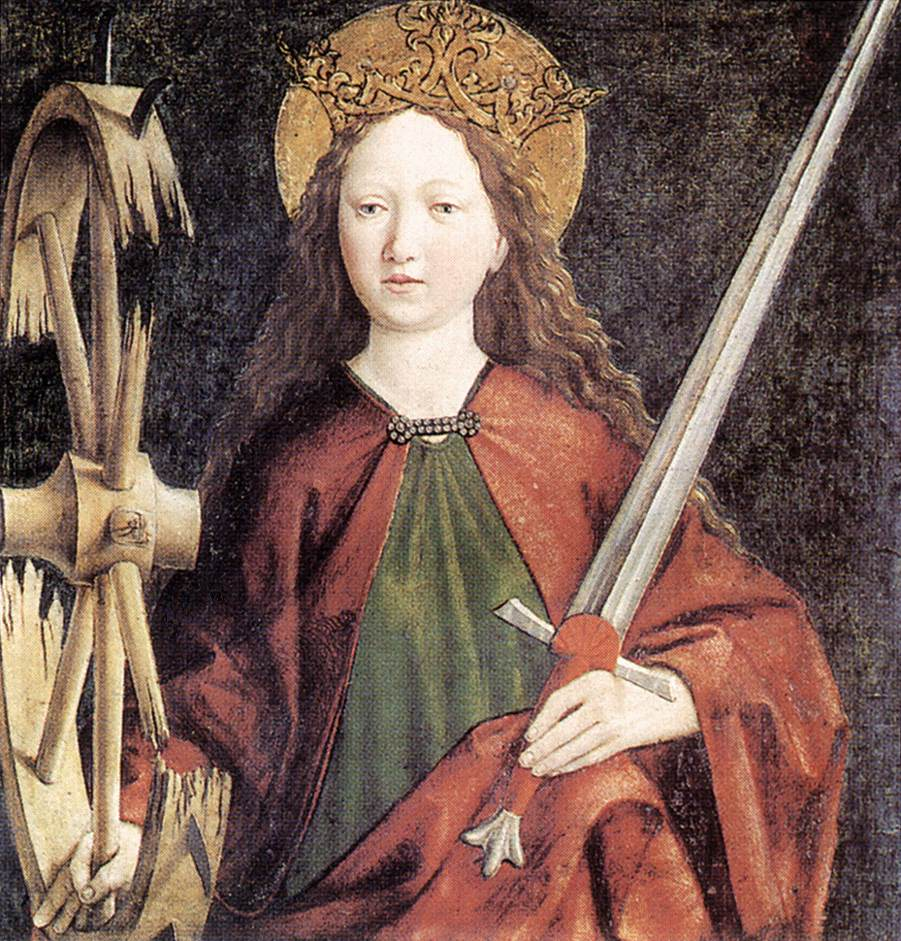 St Catherine 1465-70 | Michael Pacher | Oil Painting