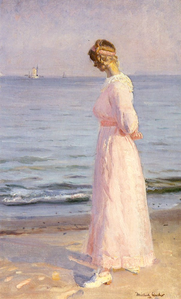 On The Beach At Skagen | Michael Peter Ancher | Oil Painting