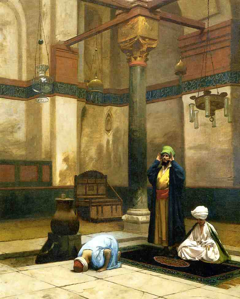 Theree Worshippers Praying in a Corner of a Mosque 1880 | Jean Leon Gerome | Oil Painting