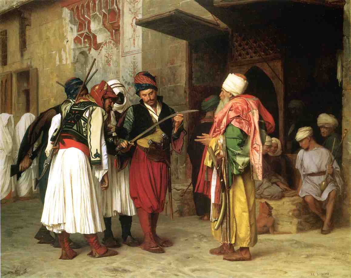 Old Clothing Merchant in Cairo aka Roaving Merchant in Cairo 1866 | Jean Leon Gerome | Oil Painting