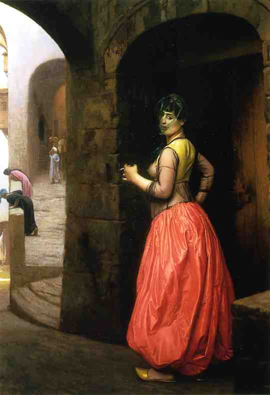 Woman from Cairo Smoking a Cigarette 1882 | Jean Leon Gerome | Oil Painting
