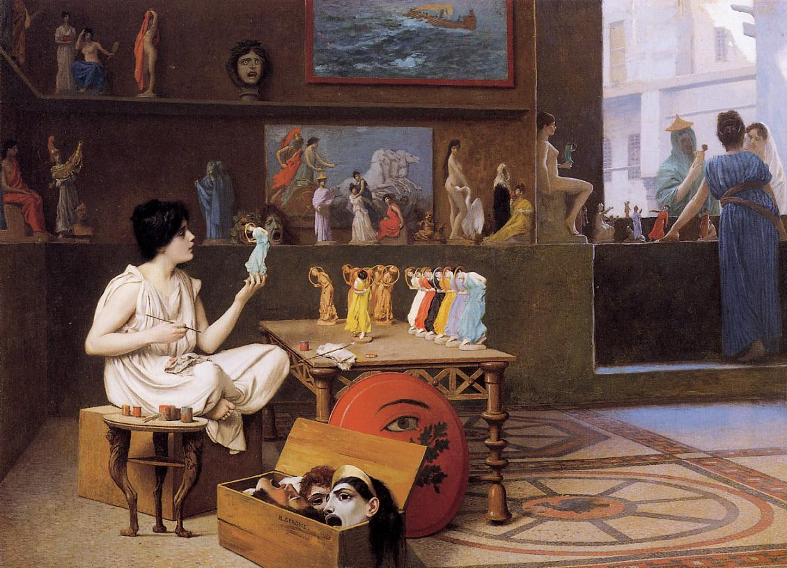Painting Breathes Life into Sculpture 1893 | Jean Leon Gerome | Oil Painting