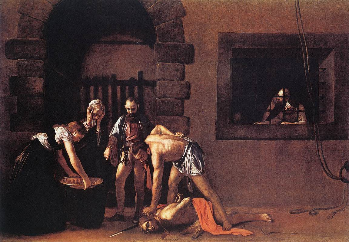 Beheading of Saint John the Baptist | Michelangelo Merisi da Caravaggio | Oil Painting