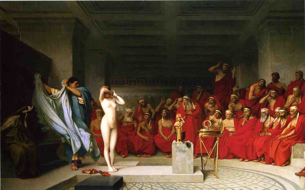 Phyrne before the Areopagus 1861 | Jean Leon Gerome | Oil Painting