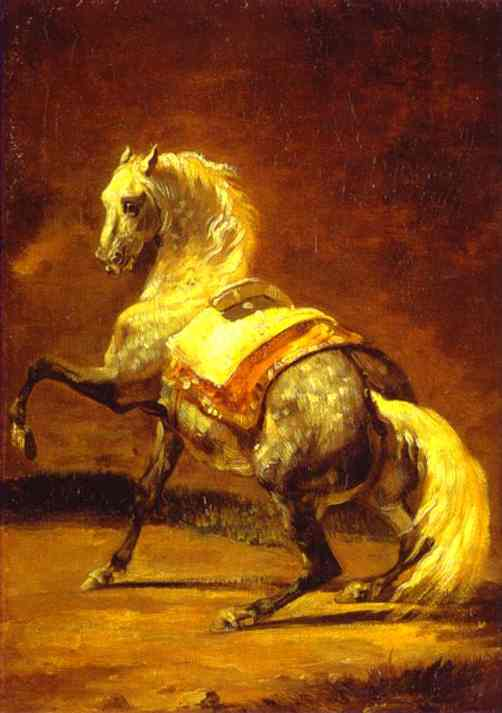 Grey Dapple Horse | Jean Louis Andre Theodore Gericault | Oil Painting