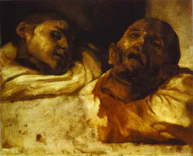 Heads Severed 1818 | Jean Louis Andre Theodore Gericault | Oil Painting