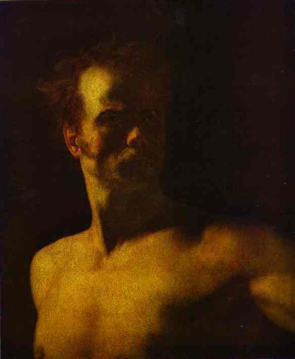 Study Of A Model | Jean Louis Andre Theodore Gericault | Oil Painting