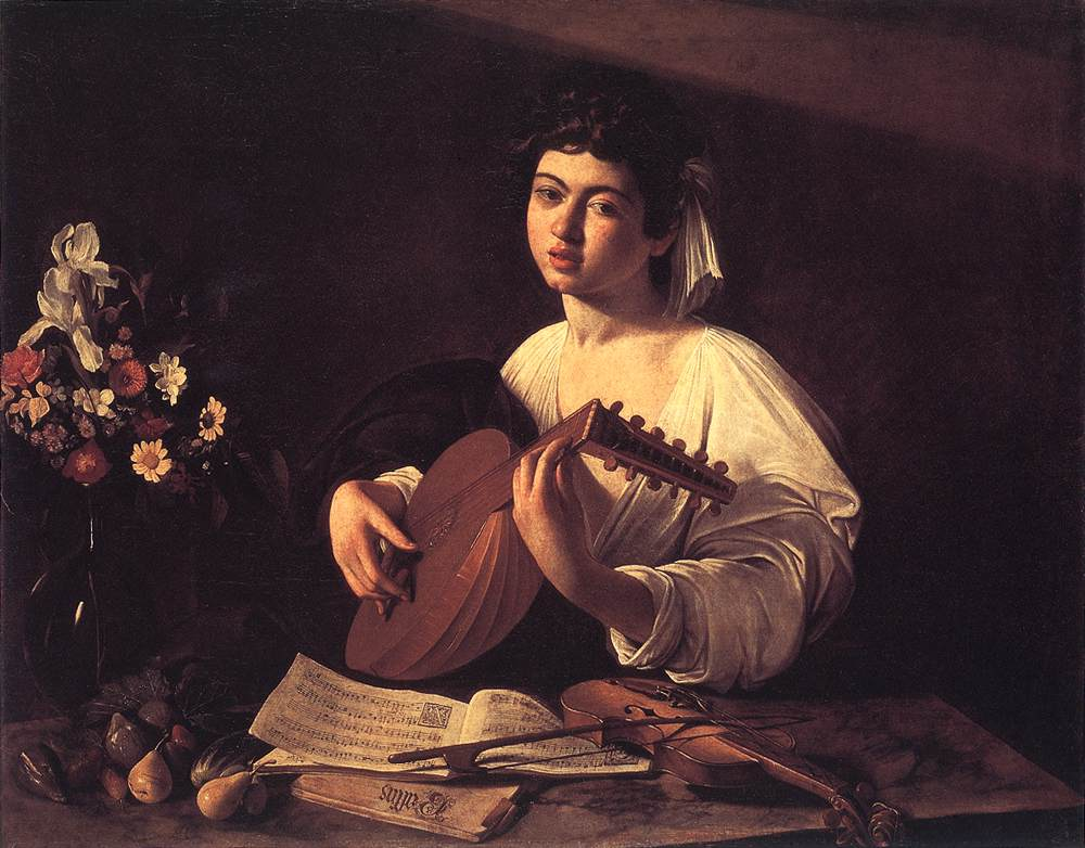 Lute Player | Michelangelo Merisi da Caravaggio | Oil Painting