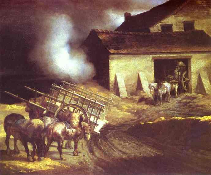 The Plaster Kiln | Jean Louis Andre Theodore Gericault | Oil Painting