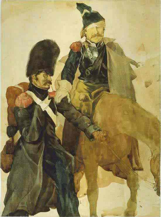 The Return From Russia 1818 | Jean Louis Andre Theodore Gericault | Oil Painting