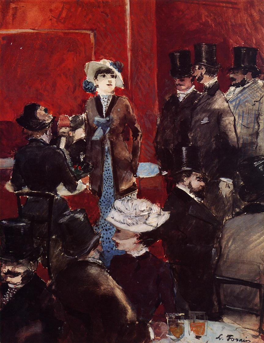 At the Cafe  1879   Jean-Louis Forain   Oil Painting