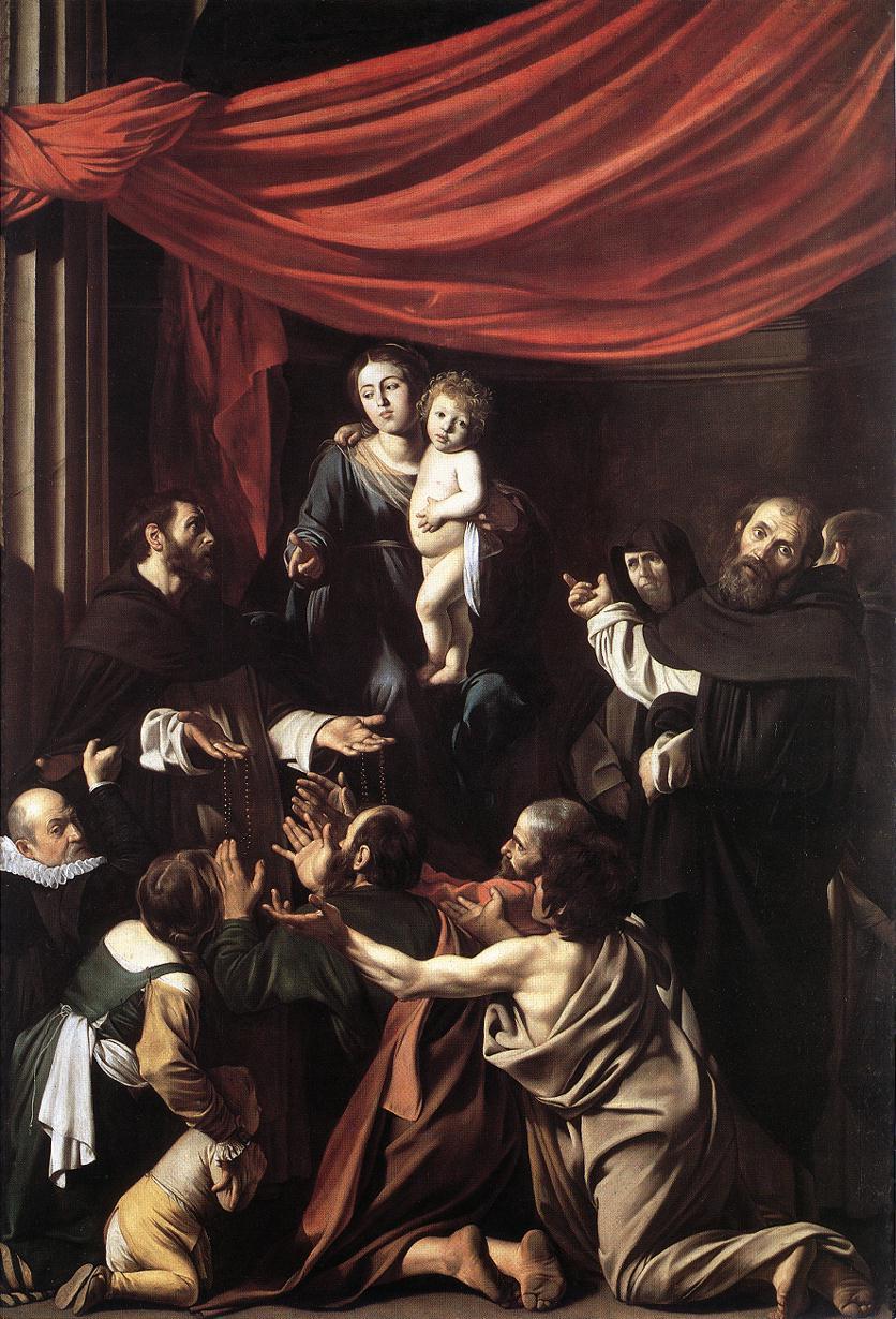 Madonna del Rosario | Michelangelo Merisi da Caravaggio | Oil Painting