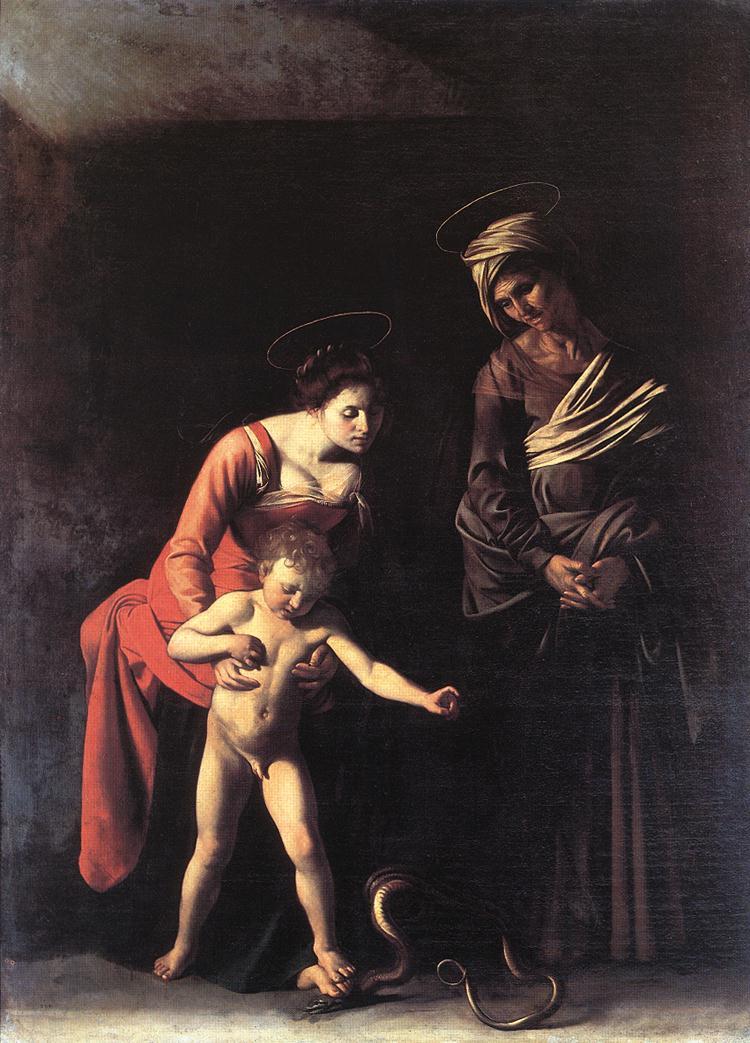 Madonna with the Serpent   Michelangelo Merisi da Caravaggio   Oil Painting