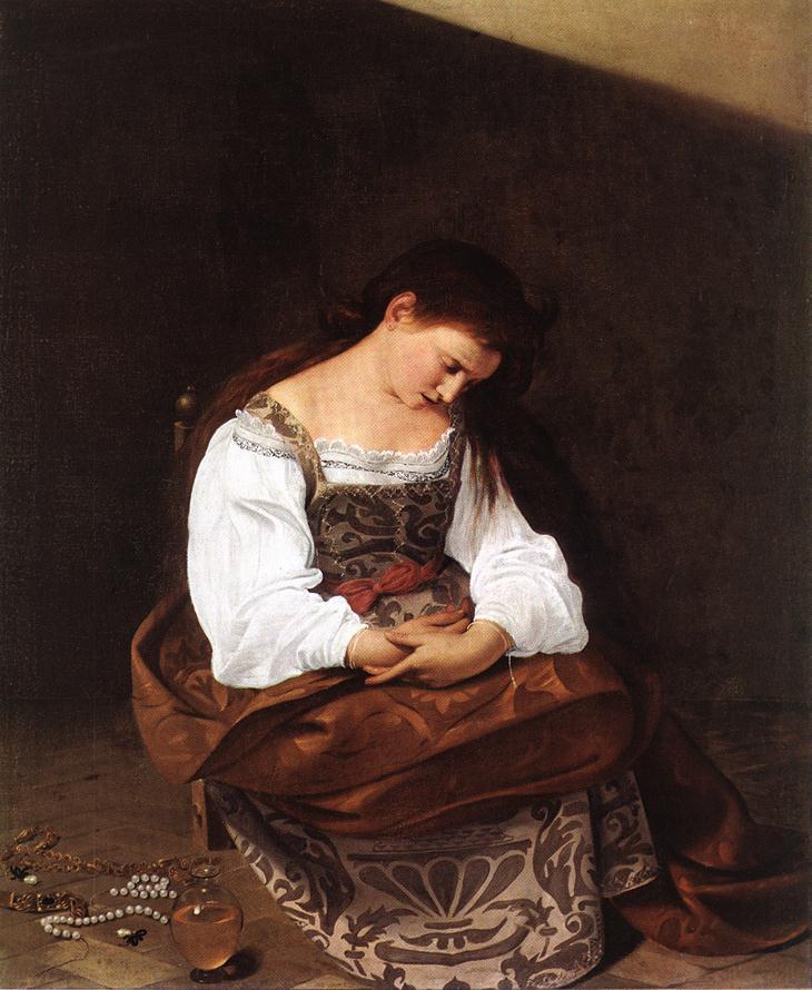 Magdalene   Michelangelo Merisi da Caravaggio   Oil Painting