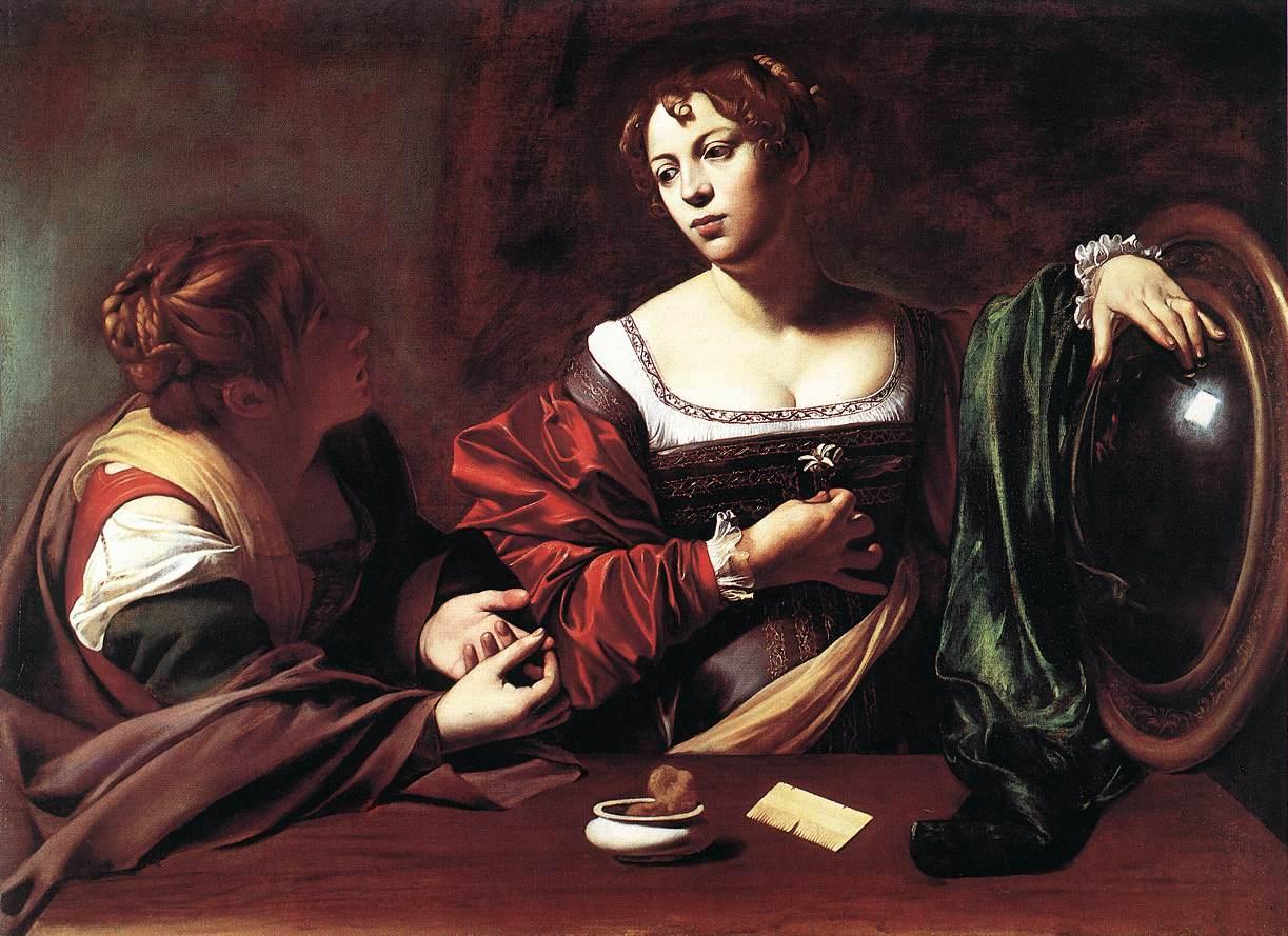 Martha and Mary Magdalene   Michelangelo Merisi da Caravaggio   Oil Painting