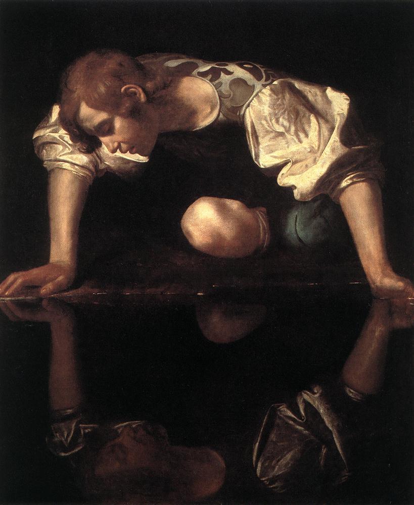 Narcissus   Michelangelo Merisi da Caravaggio   Oil Painting