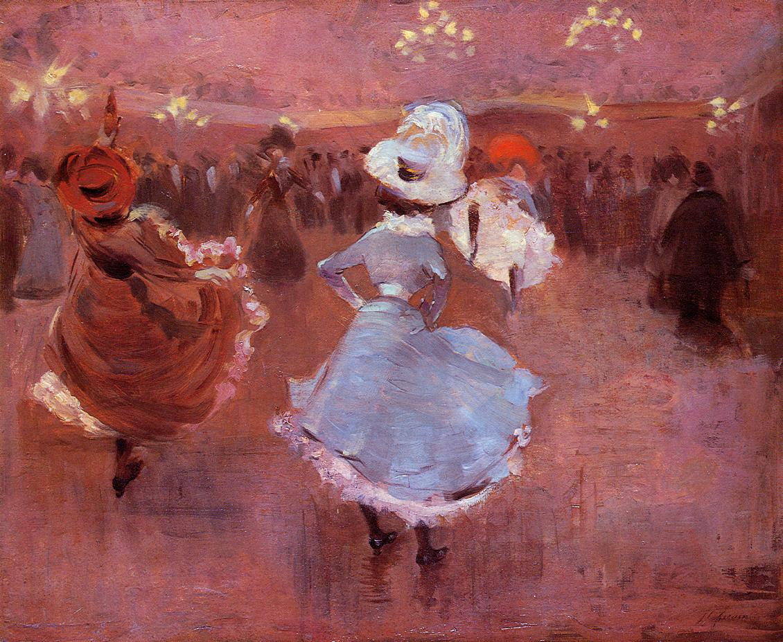 Can-Can Dancers  1886   Jean-Louis Forain   Oil Painting