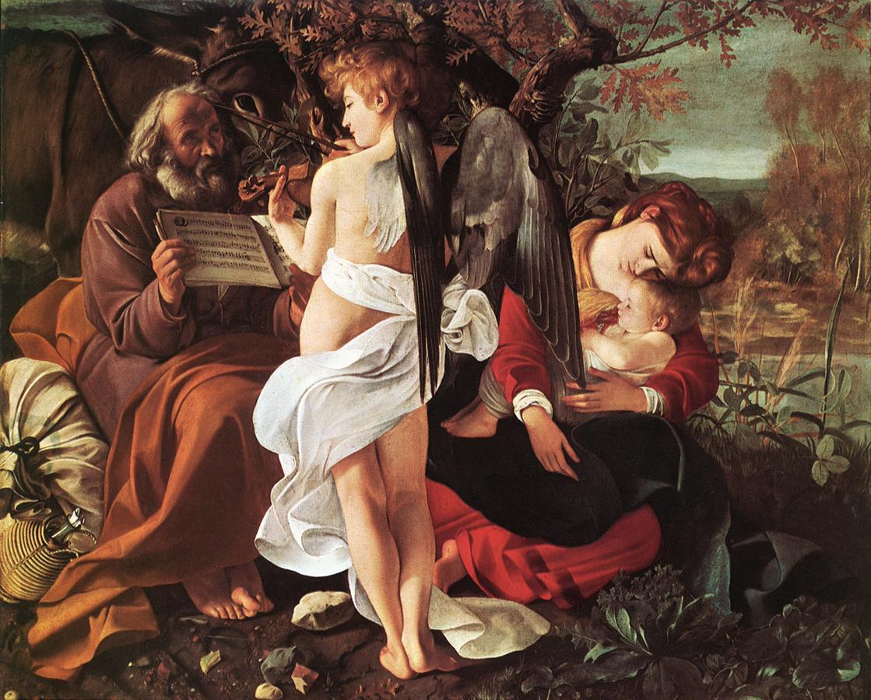 Rest on Flight to Egypt   Michelangelo Merisi da Caravaggio   Oil Painting