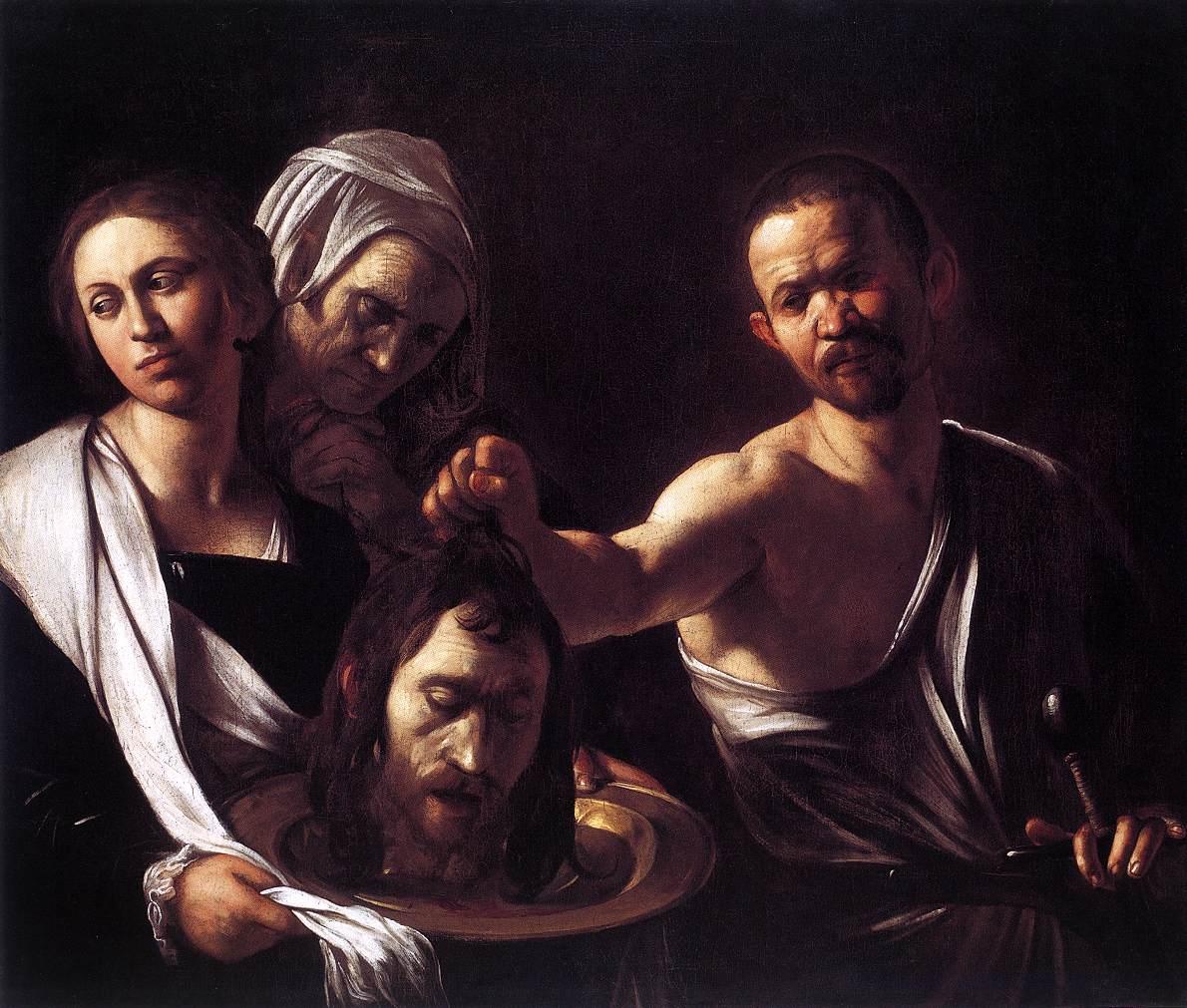 Salome with the Head of St John the Baptist   Michelangelo Merisi da Caravaggio   Oil Painting