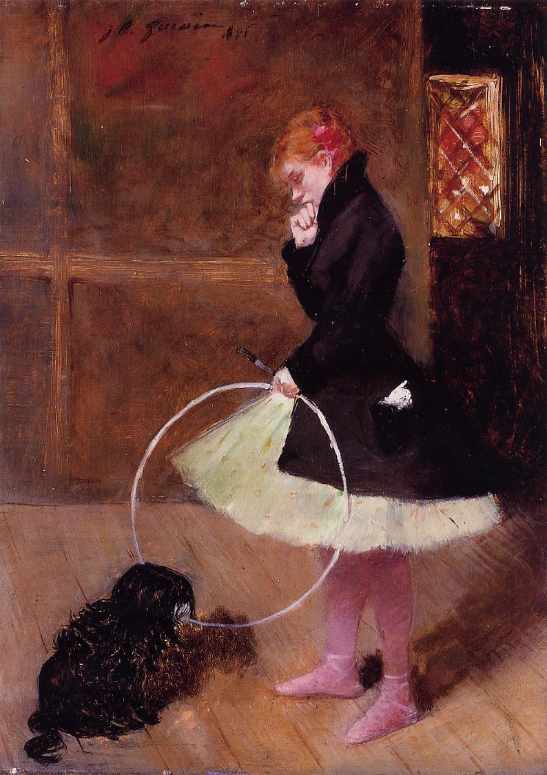 Dancer with a Hoop  1881 | Jean-Louis Forain | Oil Painting