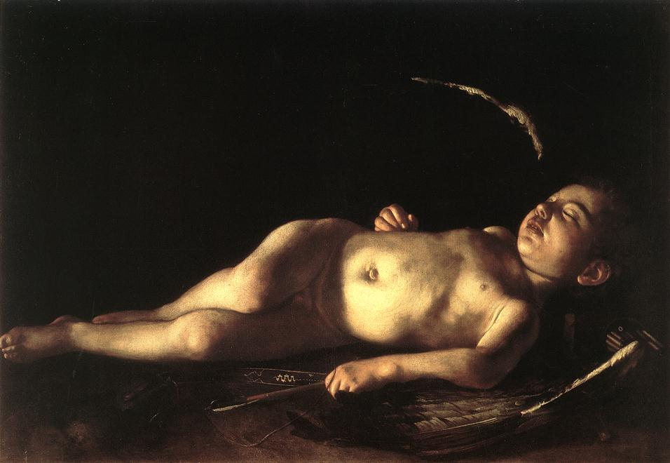 Sleeping Cupid | Michelangelo Merisi da Caravaggio | Oil Painting