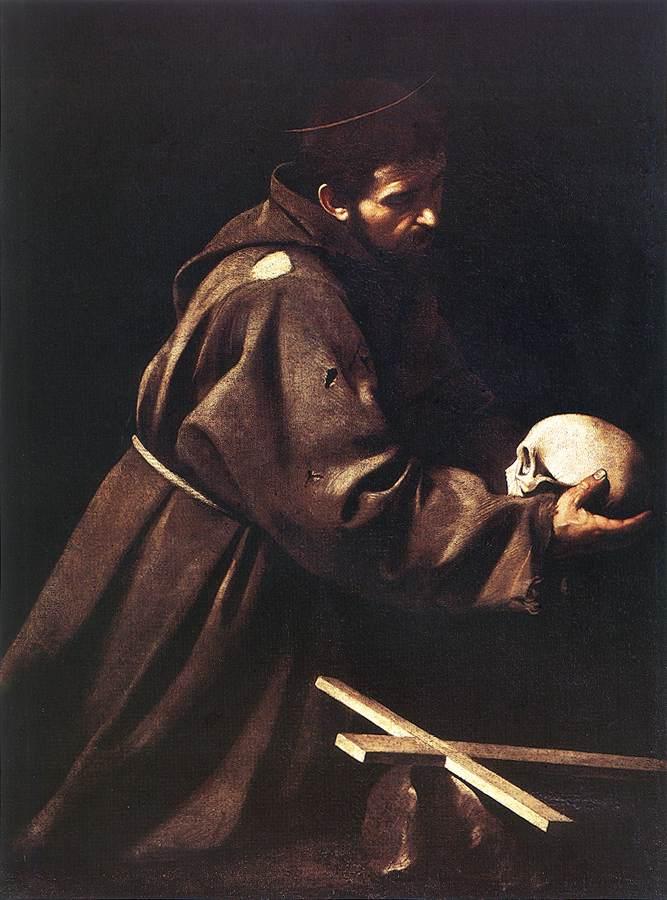 St Francis1   Michelangelo Merisi da Caravaggio   Oil Painting