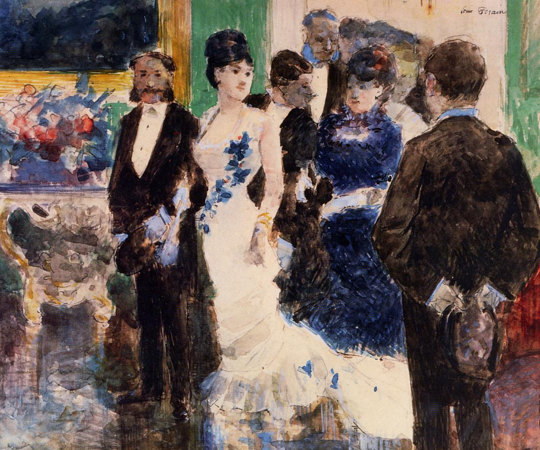 Parisian Soiree  1878 | Jean-Louis Forain | Oil Painting