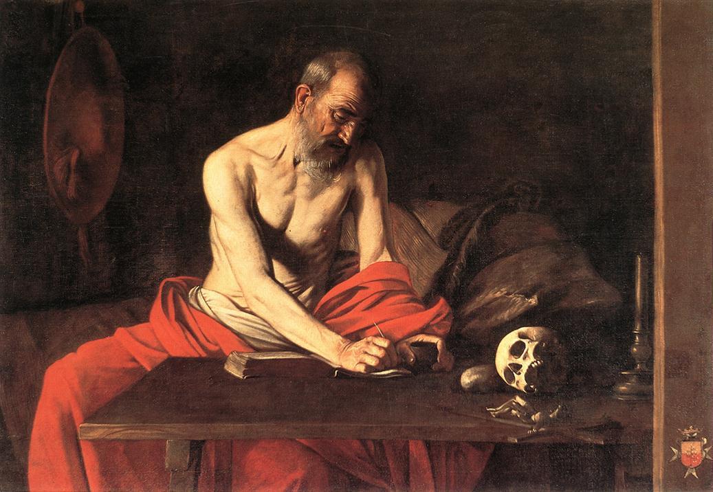 St Jerome | Michelangelo Merisi da Caravaggio | Oil Painting