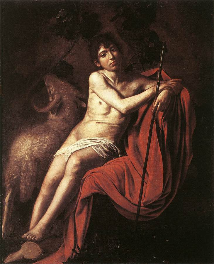 St John the Baptist3 | Michelangelo Merisi da Caravaggio | Oil Painting