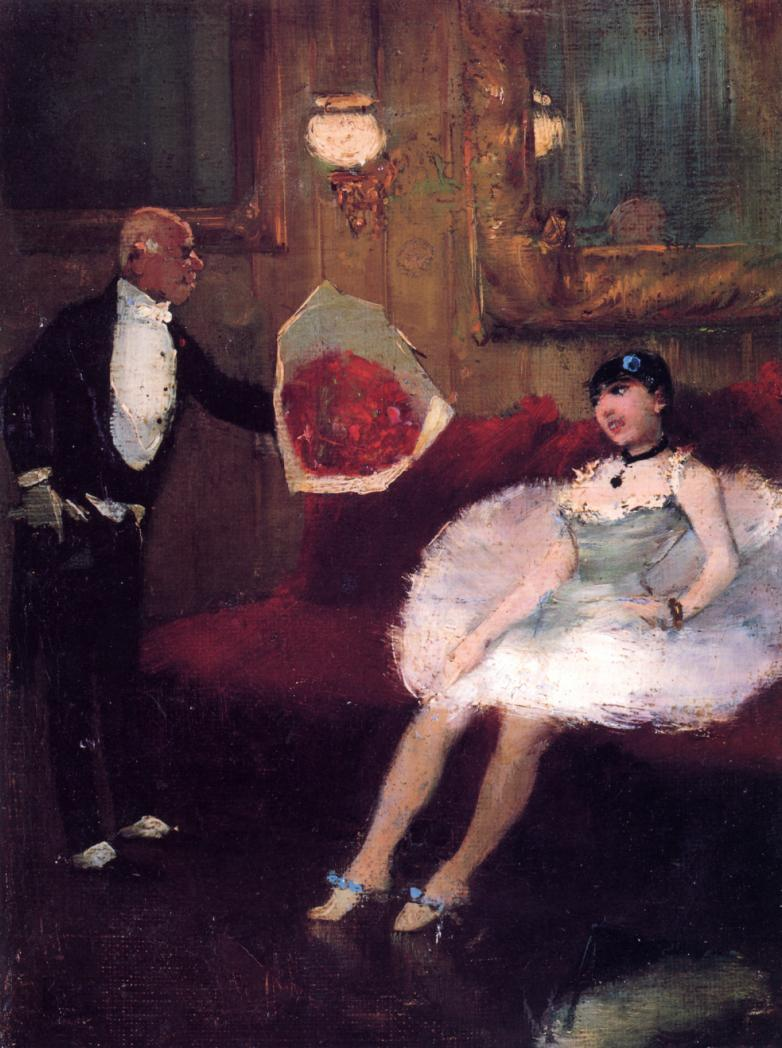 The Admirer  1877-1879 | Jean-Louis Forain | Oil Painting
