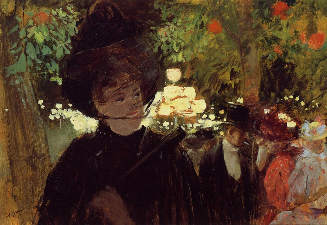 The Jardin de Paris  1882 | Jean-Louis Forain | Oil Painting