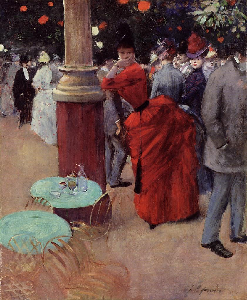 The Public Garden  1884 | Jean-Louis Forain | Oil Painting