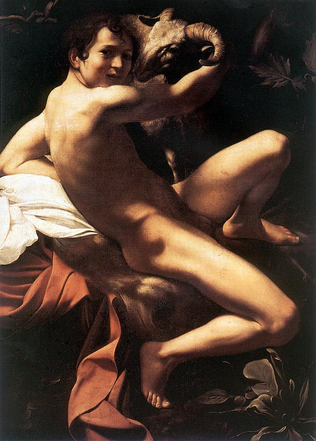 St John the Baptist Youth with Ram | Michelangelo Merisi da Caravaggio | Oil Painting