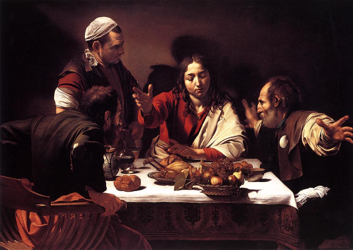 Supper at Emmaus1 | Michelangelo Merisi da Caravaggio | Oil Painting
