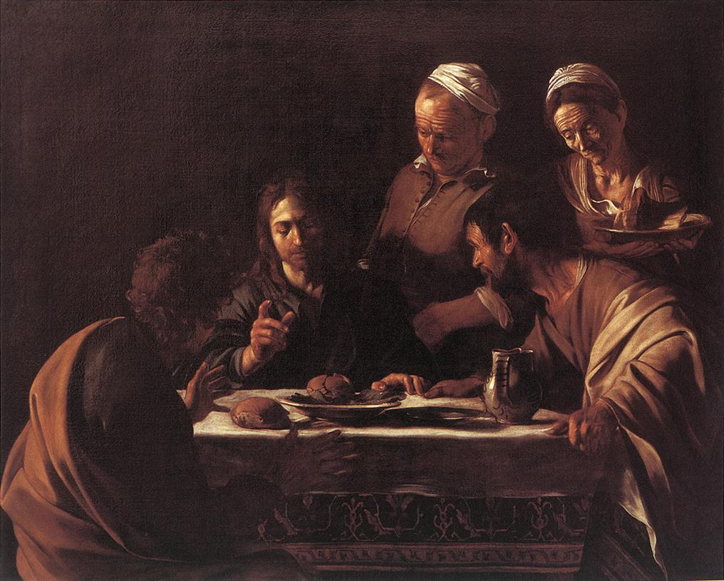 Supper at Emmaus2 | Michelangelo Merisi da Caravaggio | Oil Painting