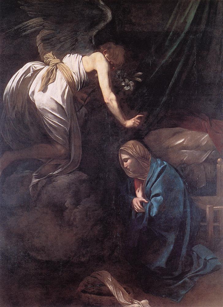 The Annunciation | Michelangelo Merisi da Caravaggio | Oil Painting